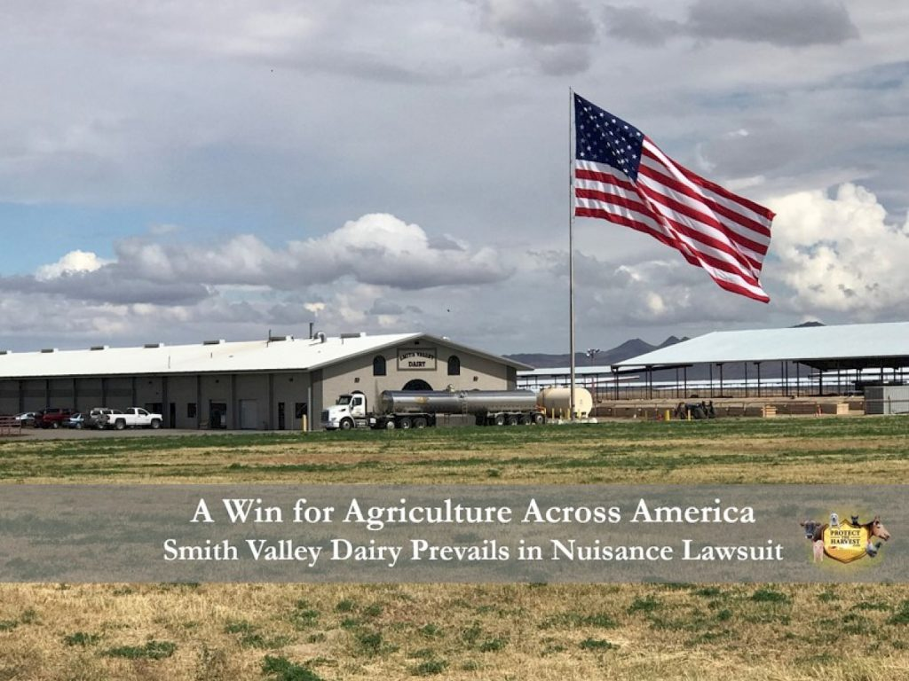 Smith Valley Dairy Prevails a win for Agriculture Across America - Protect the Harvest
