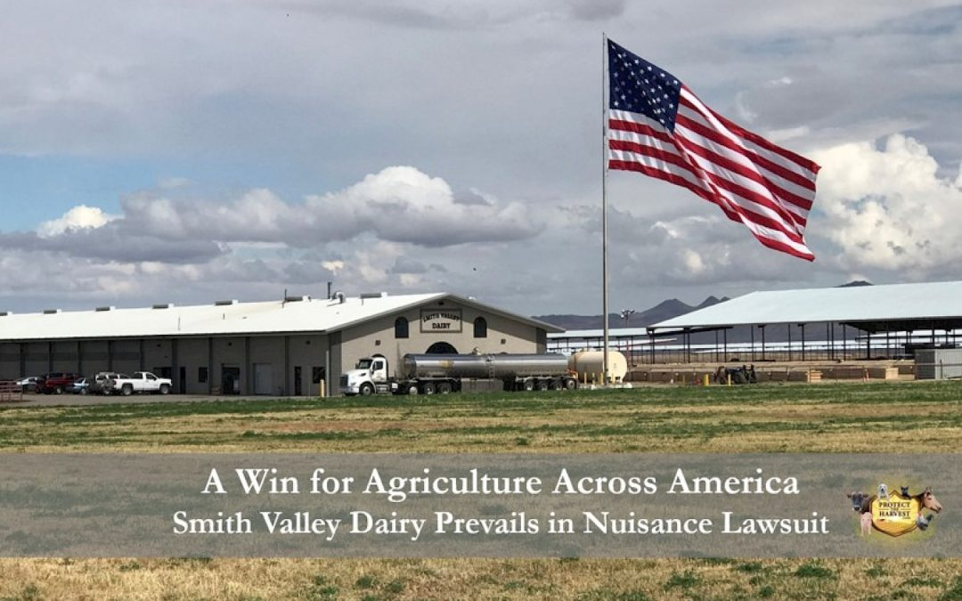 A Win for Agriculture Across America – Smith Valley Dairy Prevails