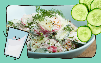 Creamy Yogurt Cucumber Salad
