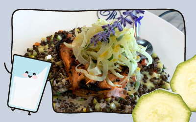 Salmon with Mosaic Lentils from Chef Colin Smith
