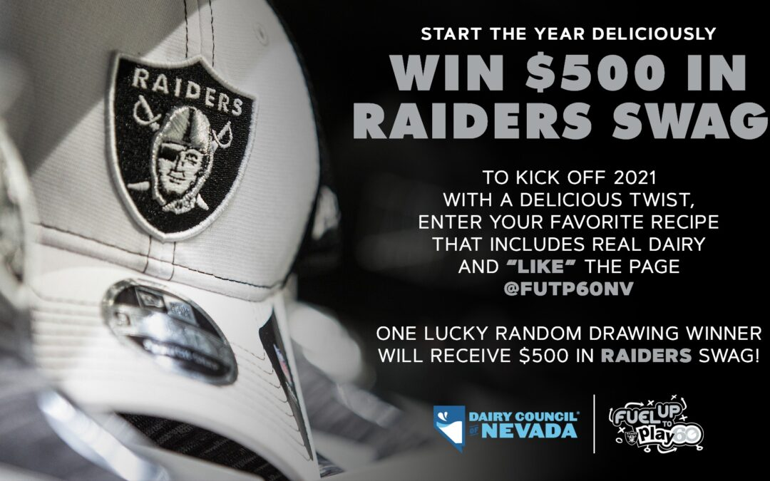 Start the Year Deliciously. Win $500 in Raiders Swag!