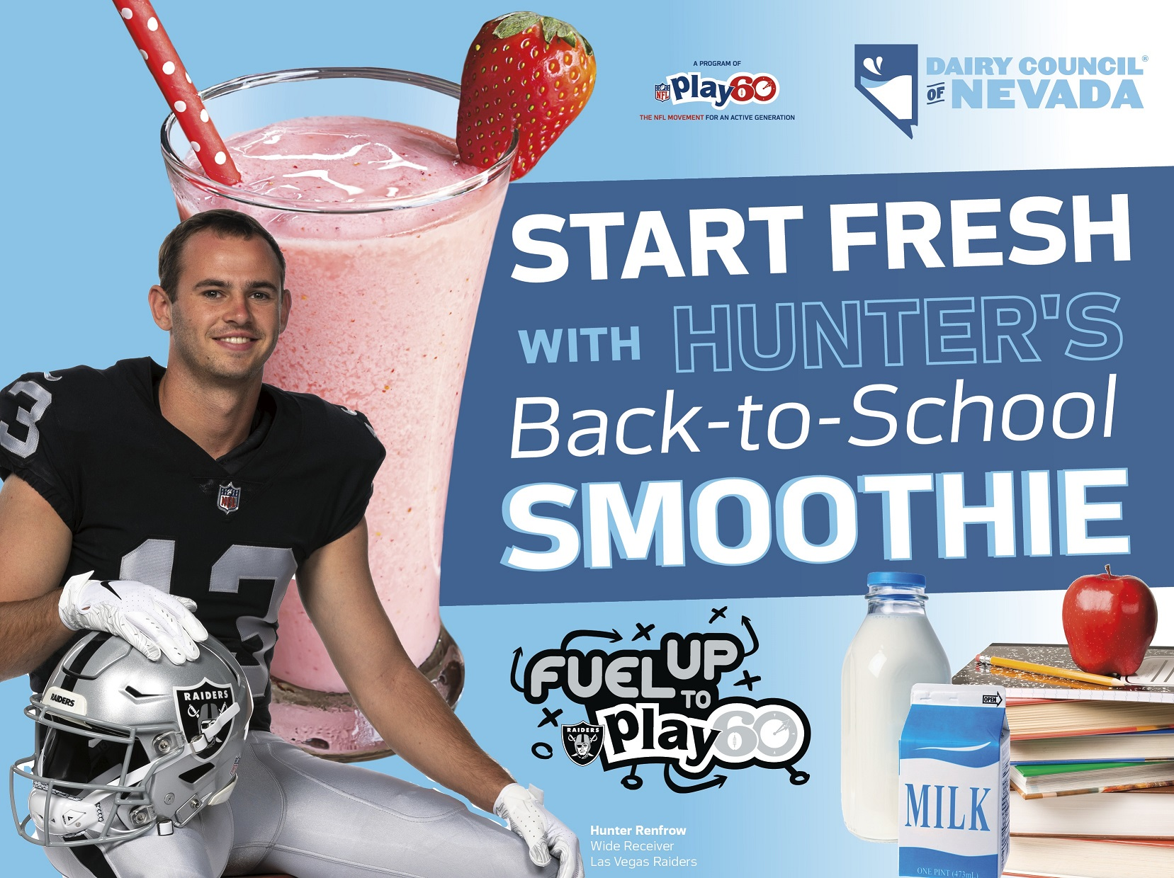 Start Fresh with Hunter's Back-to-School Smoothie Fuel Up to Play 60 Contest